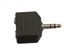 ADAPTADOR 2 JACKS 3.5mm A PLUG 3.5mm ESTEREO