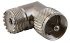 CONECTOR UHF JACK/PLUG ESCUADRA