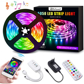 TIRA DE LED MULTICOLOR BLUETOOTH Y CONTROL REMOTO