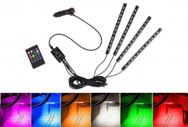 TIRA LED AMBIENTAL RGB INTERIORES CON CONTROL REMOTO