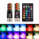 LED PELLIZCO T10 RGB CONTROL REMOTO PARA CUARTOS